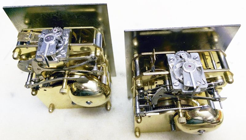 David Peterson Flat Brass 8 Day Carriage Clock DP FB SK with Bell